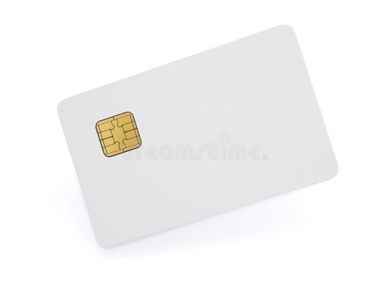 card credit template Белая пластичная карточка изолированная на белом backg иллюстрация штока