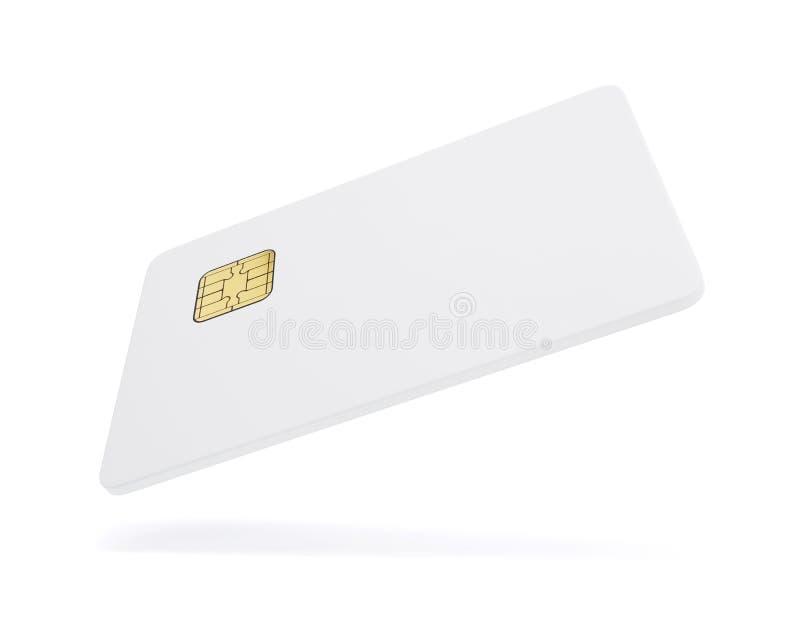 card credit template Белая пластичная карточка изолированная на белом backg иллюстрация вектора
