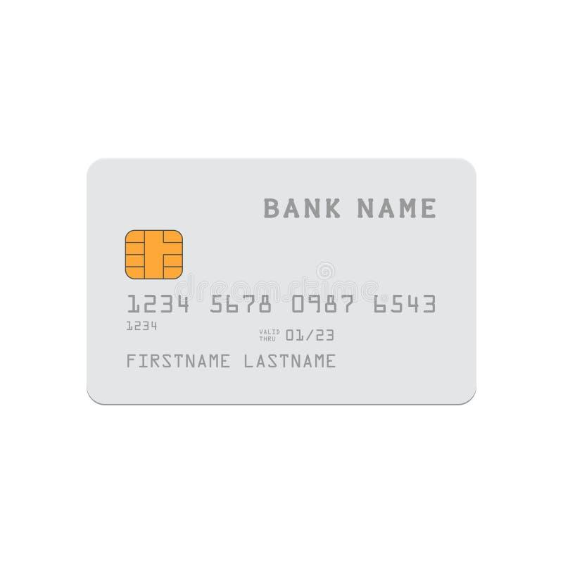 card credit template бесплатная иллюстрация