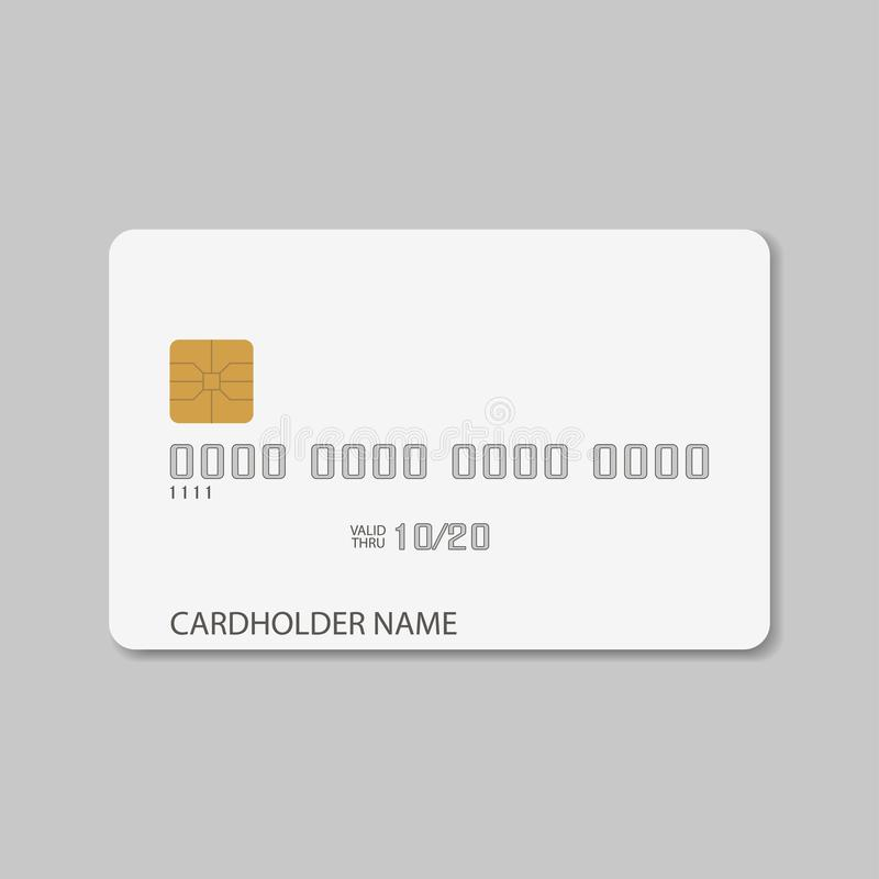card credit template Tom realistisk modell för plast- kontokort vektor stock illustrationer