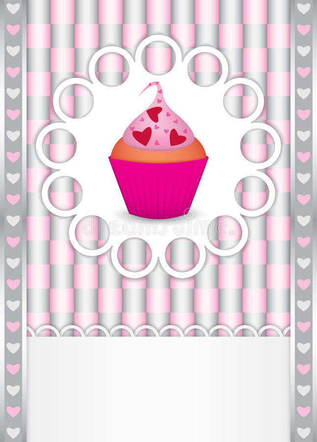 Download Card With Cupcake And Hearts Royalty Free Stock Images - Image: 22979919