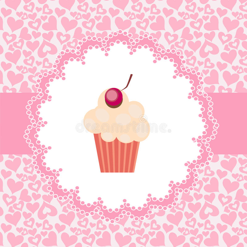 Download Card With Cupcake.  Illustration Stock Vector - Image: 22278444