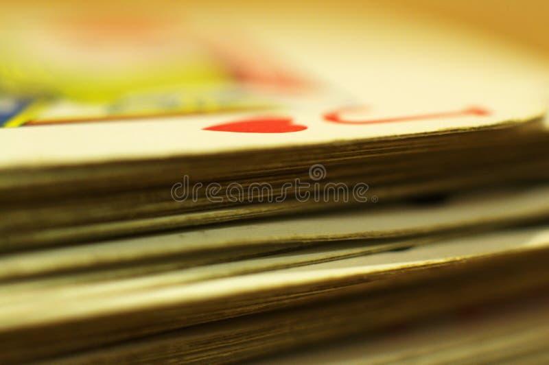 Card deck stock photo
