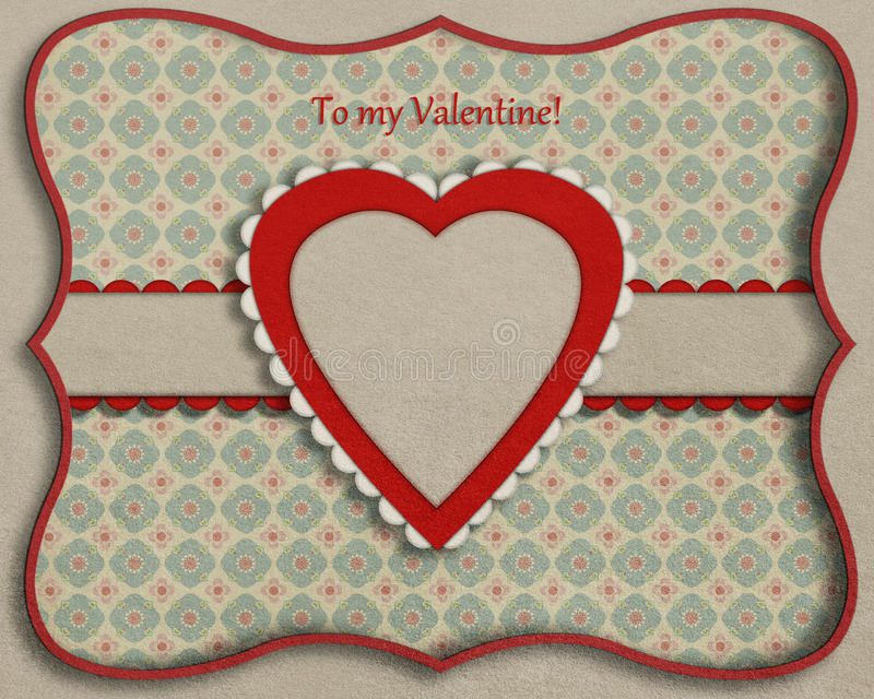 Card with decorative heart. royalty free illustration