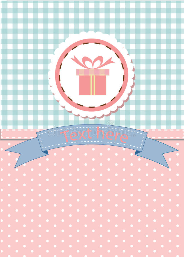 Card design for greeting, birthday, invitation and party. stock image