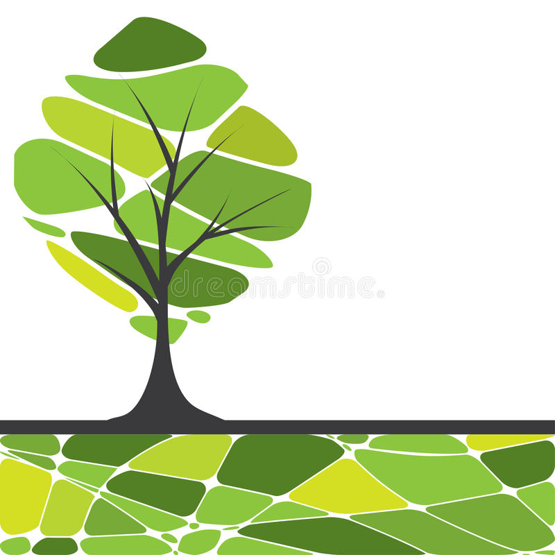 Card design with stylized trees and text. For you vector illustration