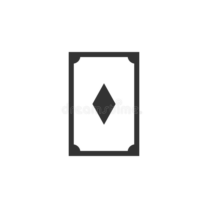 Card, diamond line icon. Simple, modern flat vector illustration for mobile app, website or desktop app vector illustration