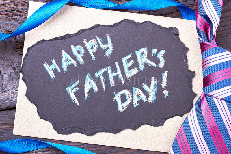 Card on Father`s Day. stock images