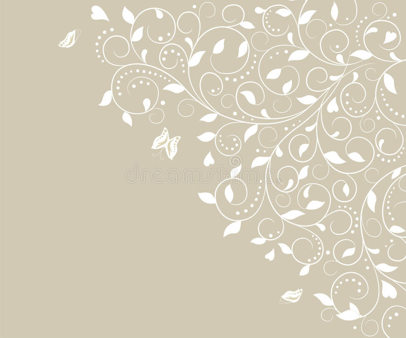 Card with floral pattern. Card with decorative floral pattern vector illustration