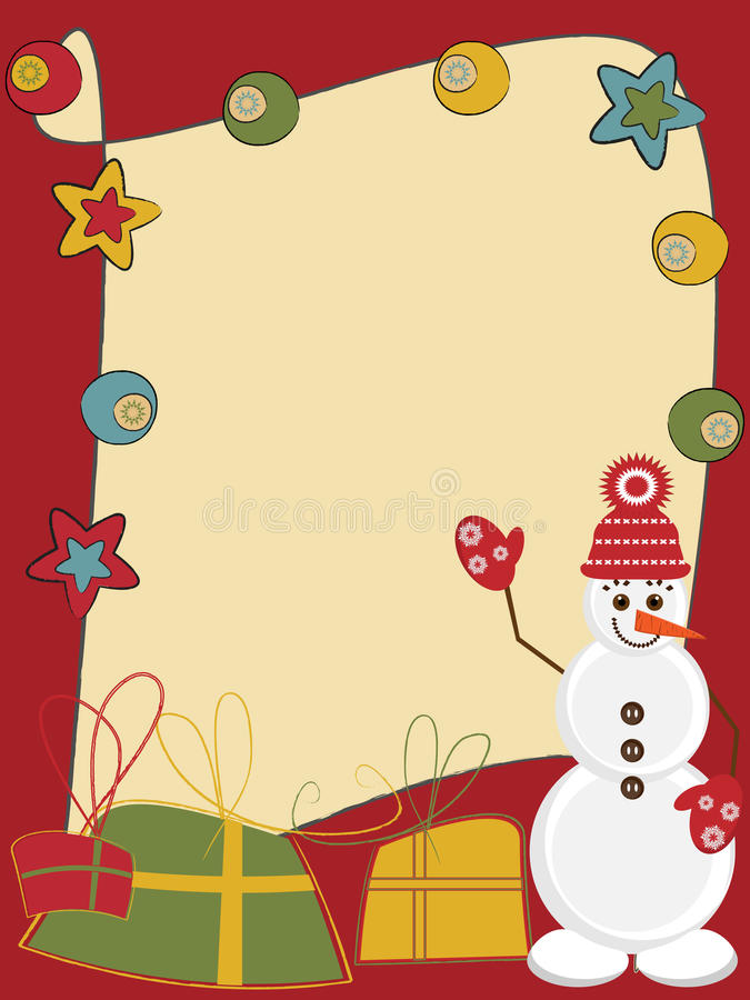 Download Card with funny snowman stock vector. Image of card, midnight - 21146744