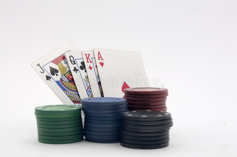 Card game with chips stock photo
