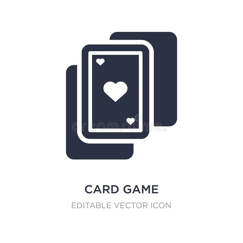 Card game icon on white background. Simple element illustration from Entertainment concept. Card game icon symbol design royalty free illustration