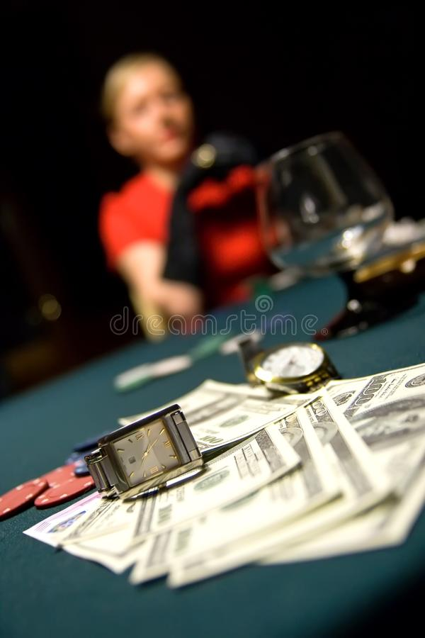 Card game stakes stock photo
