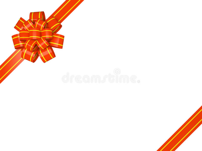 Download Card with gift bow stock illustration. Image of christmas - 27987356