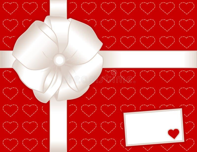 card gift hearts present иллюстрация штока