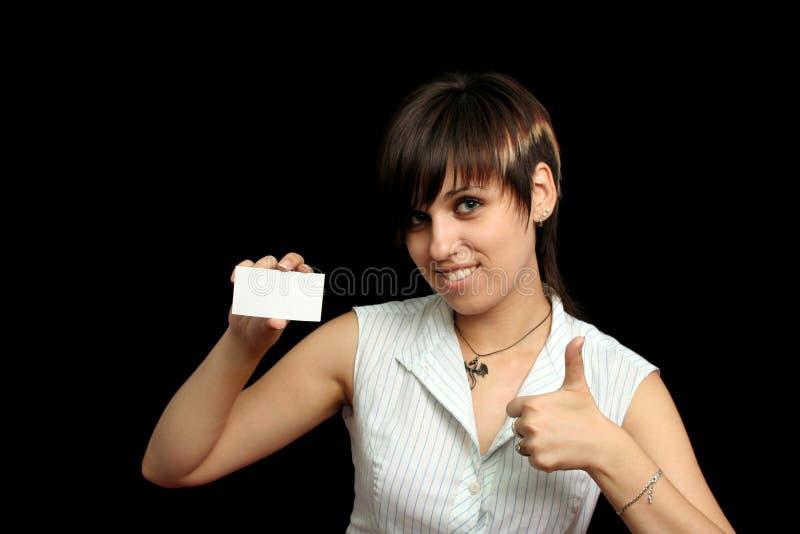card girl ok стоковая фотография rf