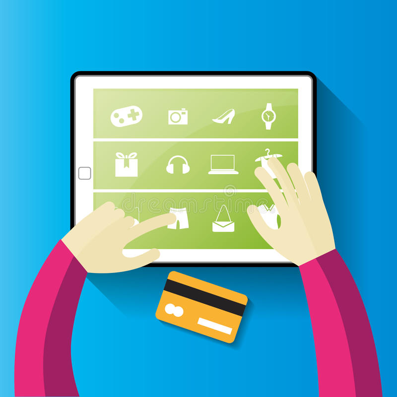 card grund shopping för dof-fokushanden online mycket royaltyfria bilder