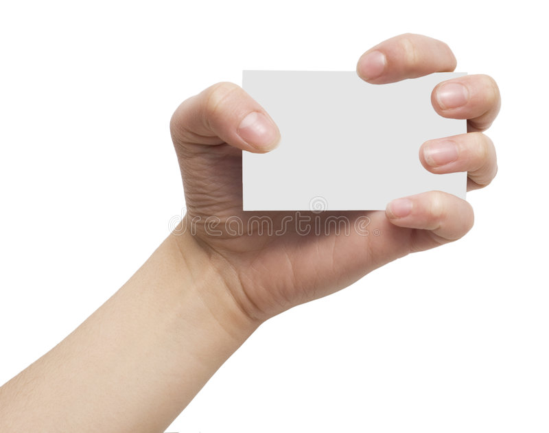 Card in hand royalty free stock photography