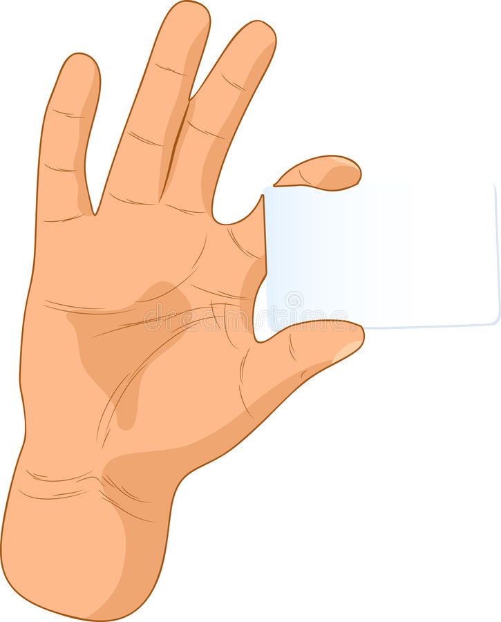 Card in a hand. royalty free stock photography