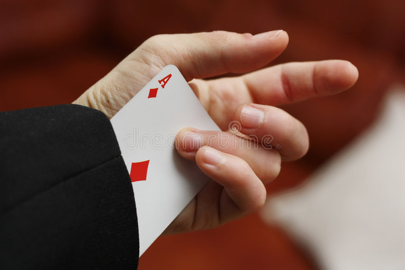 Card in hand stock photo