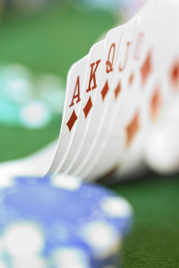 Card Hand - Royal Flush stock image