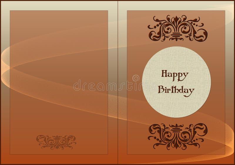 Card Happy Birthday royalty free illustration