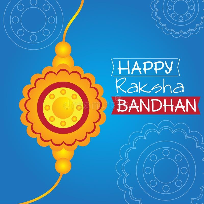 Card of happy raksha bandhan stock illustration
