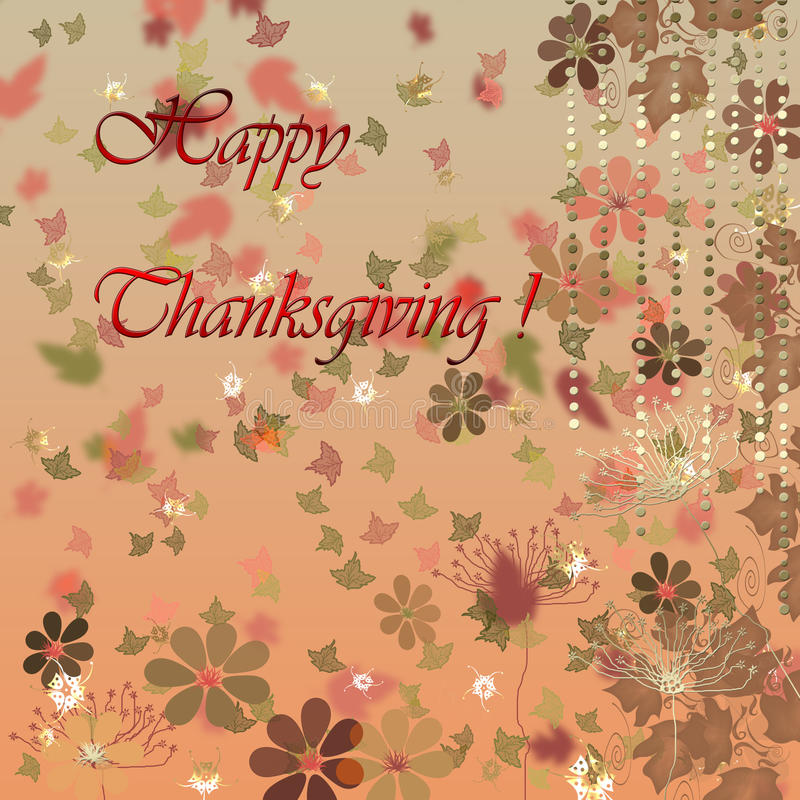Card For Happy Thanksgiving Day Stock Images