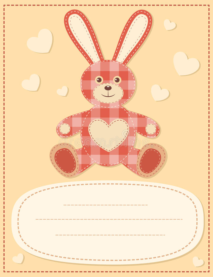Download Card With The Hare For Baby Shower 2 Stock Images - Image: 26771974