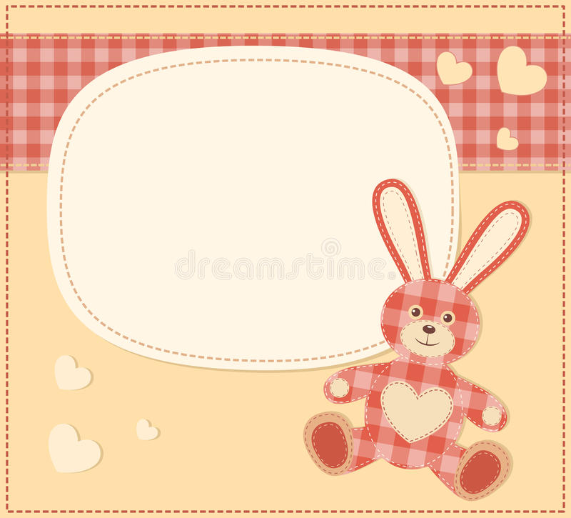 Download Card With The Hare For Baby Shower Stock Vector - Illustration of frame, celebration: 26771890