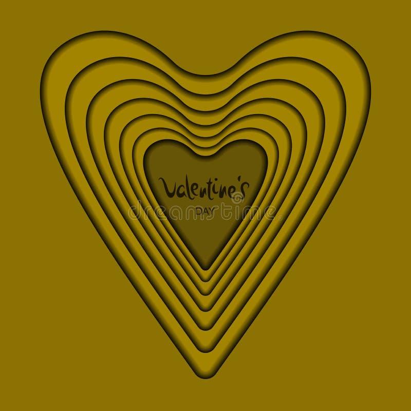 Card heart gold stock illustration