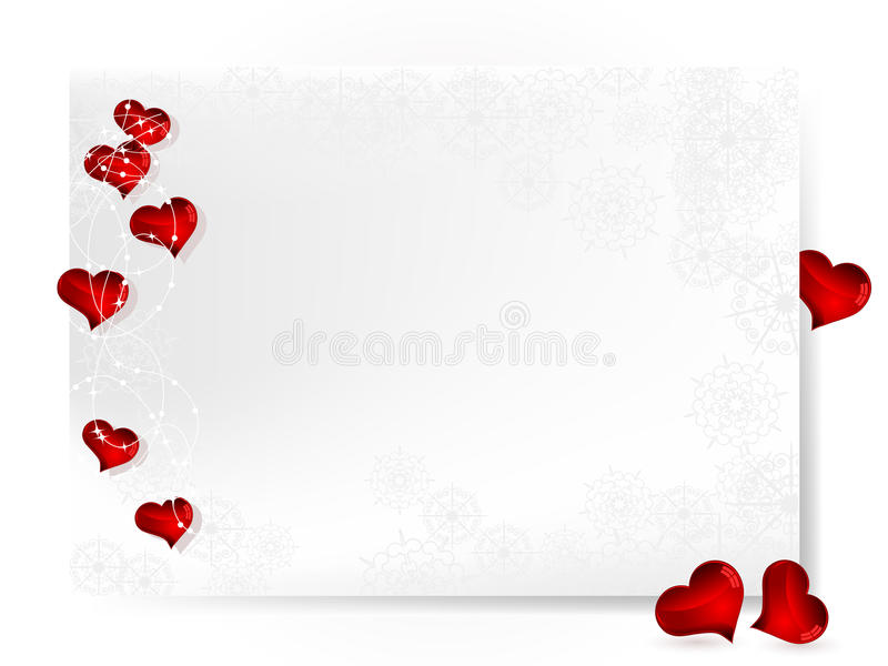 Card with hearts royalty free illustration