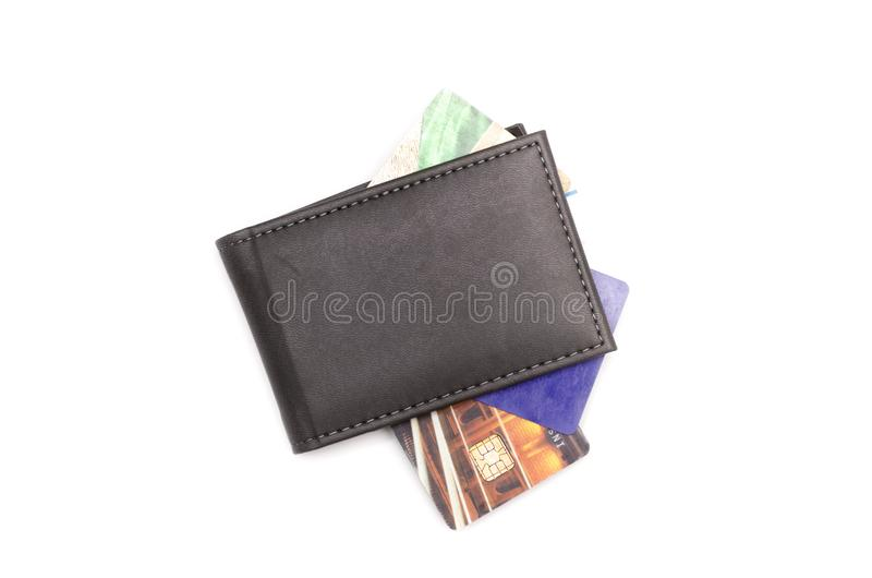 Card holder. Card holder isolated on white background royalty free stock images