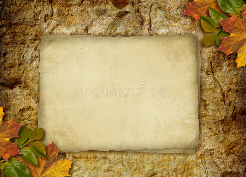 Download Card For The Holiday  With Autumn Leaves Stock Illustration - Image: 16677481