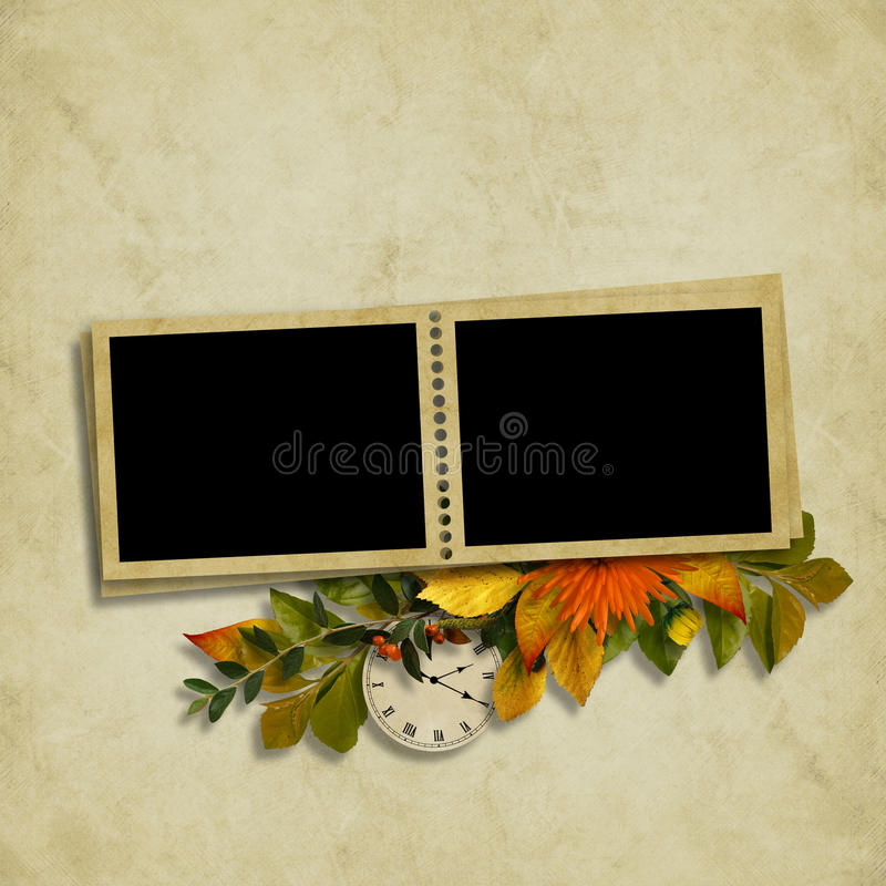 Download Card For The Holiday  With Autumn Leaves Stock Illustration - Image: 16677834
