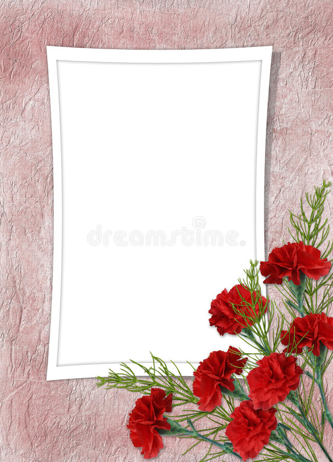 Card for the holiday with flower. On the abstract background royalty free stock photography