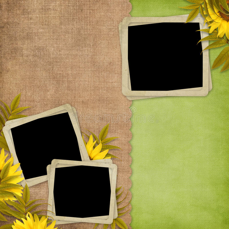 Download Card For The Holiday  With Flowers Stock Illustration - Image: 14291966