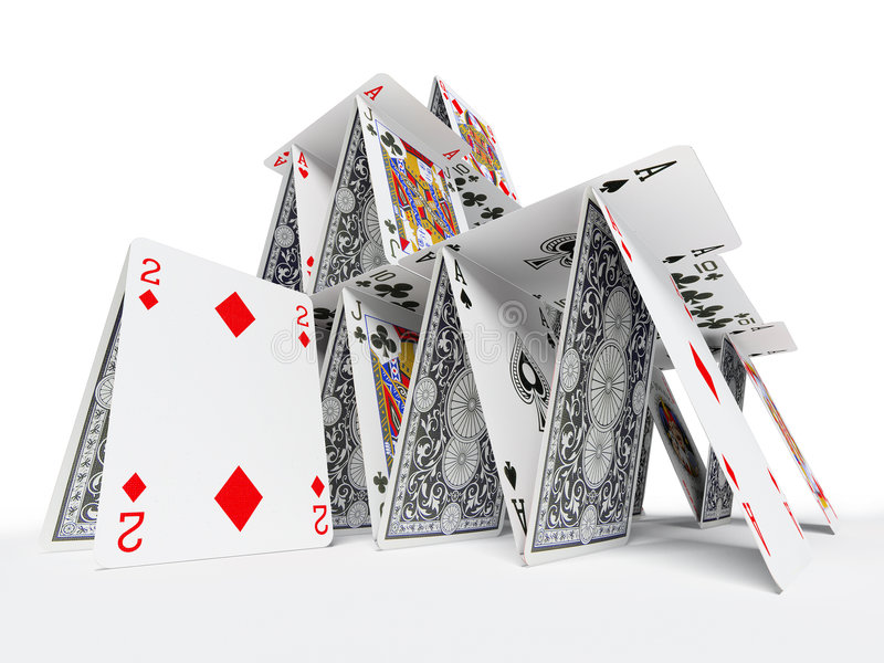 The card house stock illustration