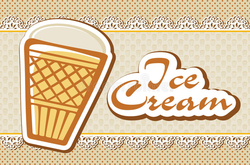 Card with ice cream stock vector. Illustration of invitation - 55217759