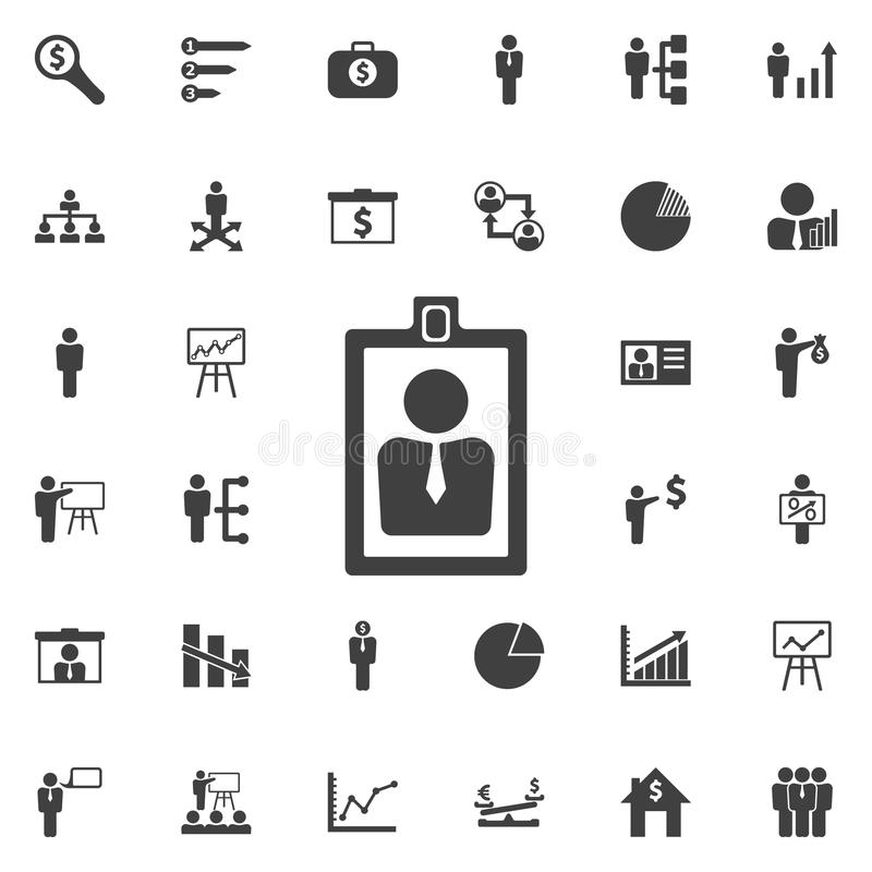 card id icon. stock illustration