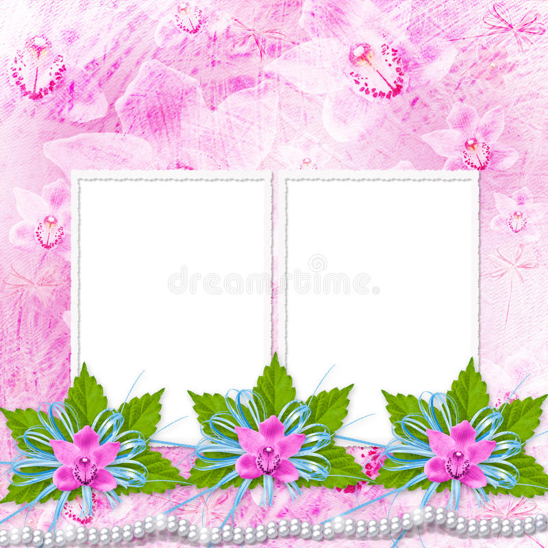 Card for invitation or congratulation royalty free illustration