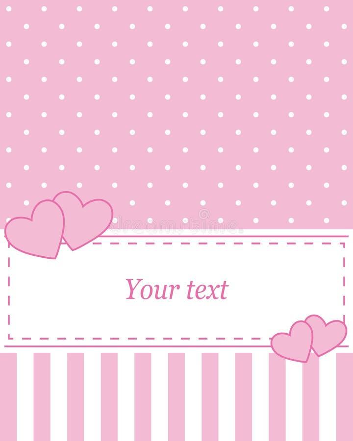 Card invitation pink stock illustration