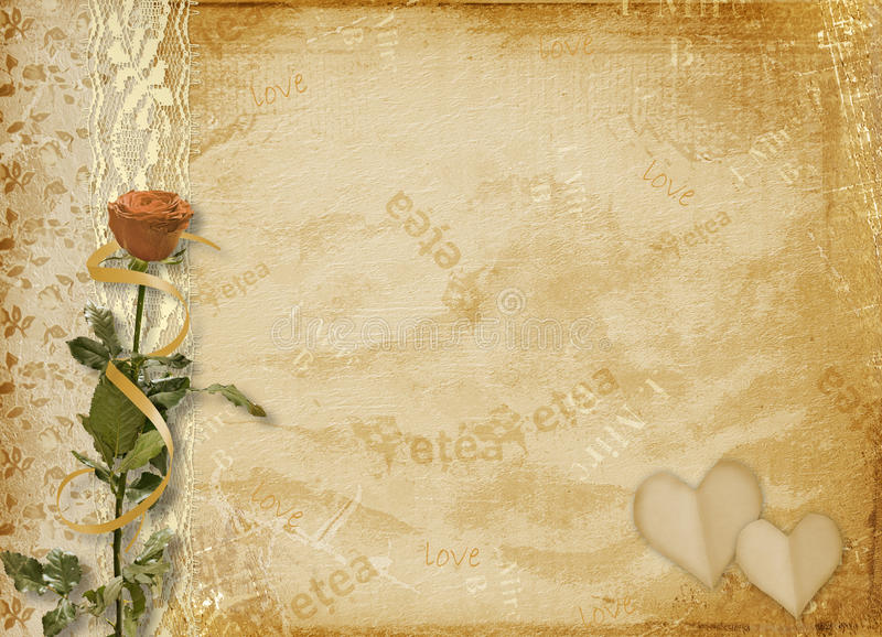 Download Card For Invitation With Rose And Lace Stock Illustration - Image: 12079558