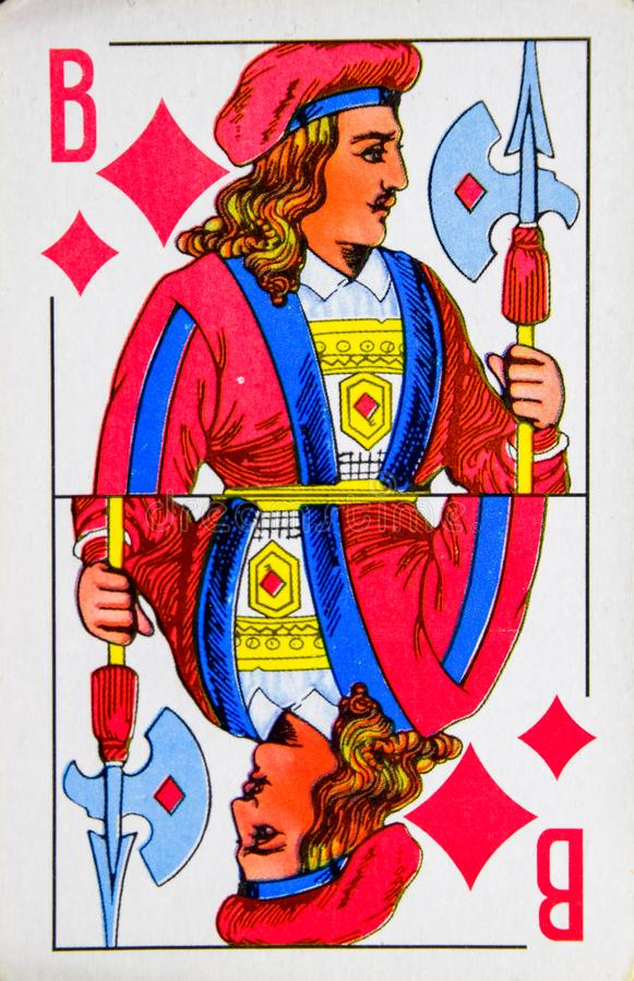 jack of diamonds playing card stock image  image of