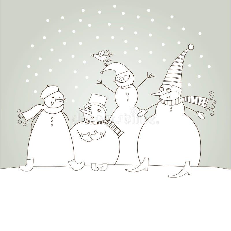 card jul royaltyfri illustrationer