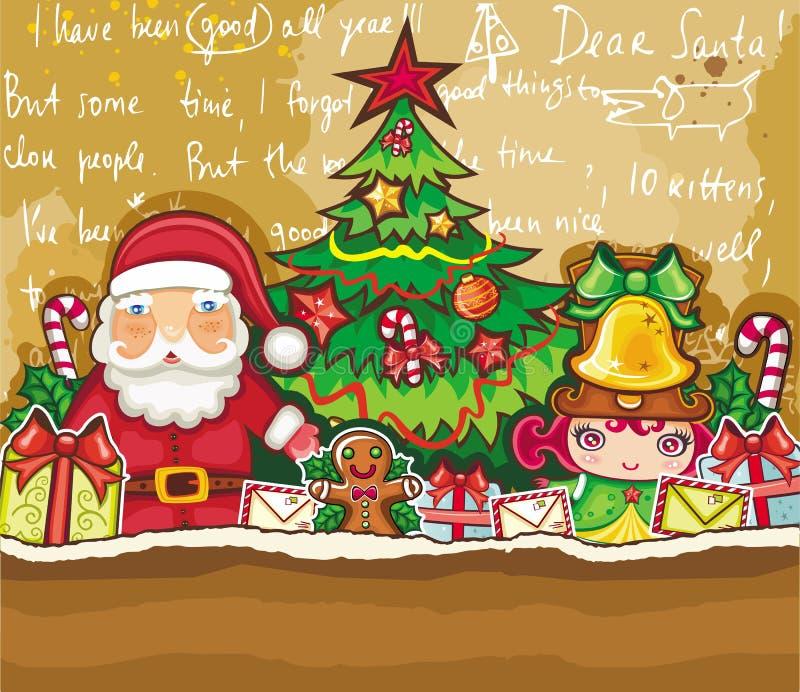 card jul som greeting vektor illustrationer