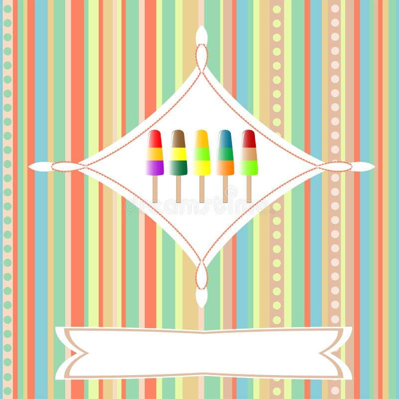 card kräm- många ferieis vektorn royaltyfri illustrationer