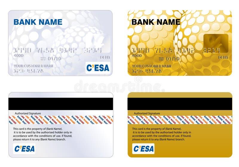 card kreditering stock illustrationer