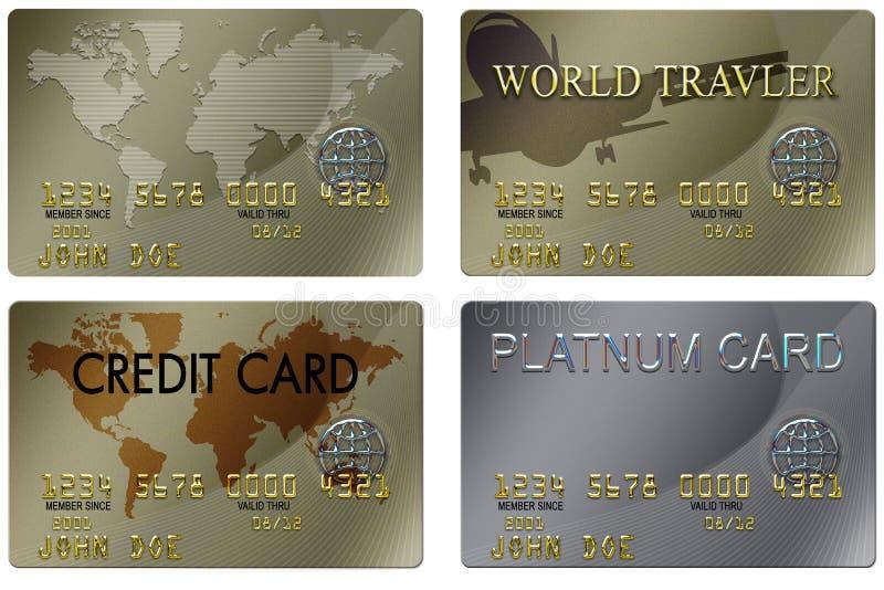 card kreditering vektor illustrationer