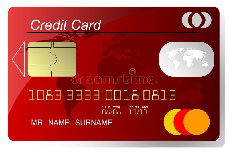 card kreditering royaltyfri illustrationer